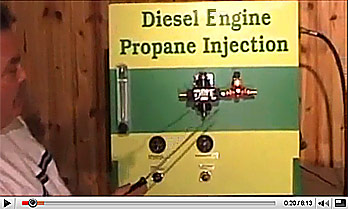 YouTube Video - Propane Injection System For Gasoline powered Turbocharged Engines
